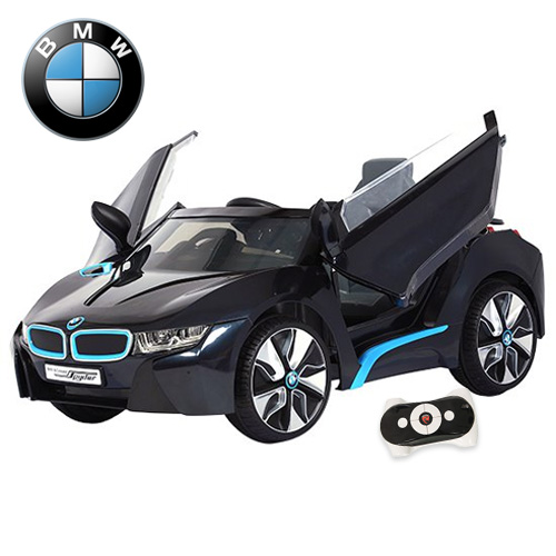 Limited Edition Black Official BMW i8 Series 12v Car with Remote - Click Image to Close