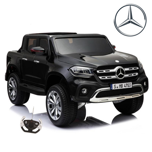 Two Seater 12v Official Black X-Class Kids Pickup Truck - Click Image to Close