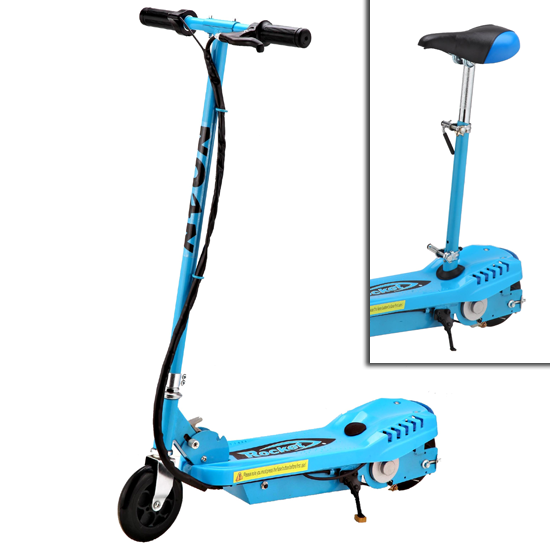 Pin kids rocket electric scooter toys blueview on pinterest for Motorized scooter for kids