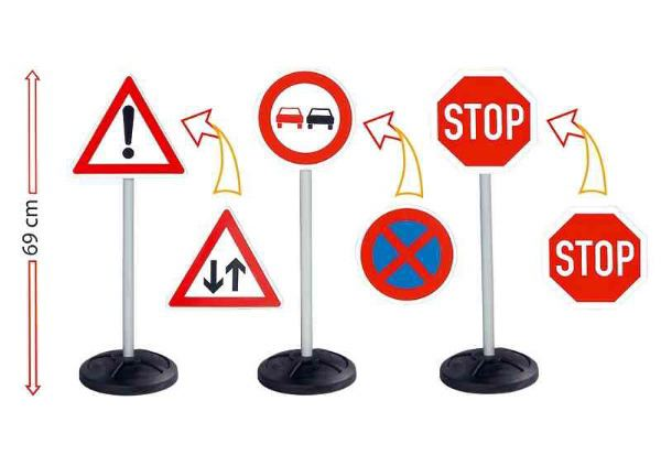 Child's Stand-Up Road Traffic Sign Set - Click Image to Close