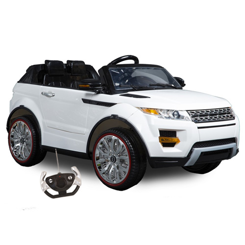 Evoque XL Style 12v 4x4 Suspension Jeep with Remote and Stroller - Click Image to Close