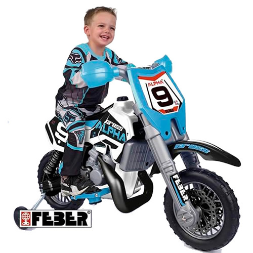 Childs Feber-Cross SXC 6V Electric Ride-on Motorbike - Click Image to Close