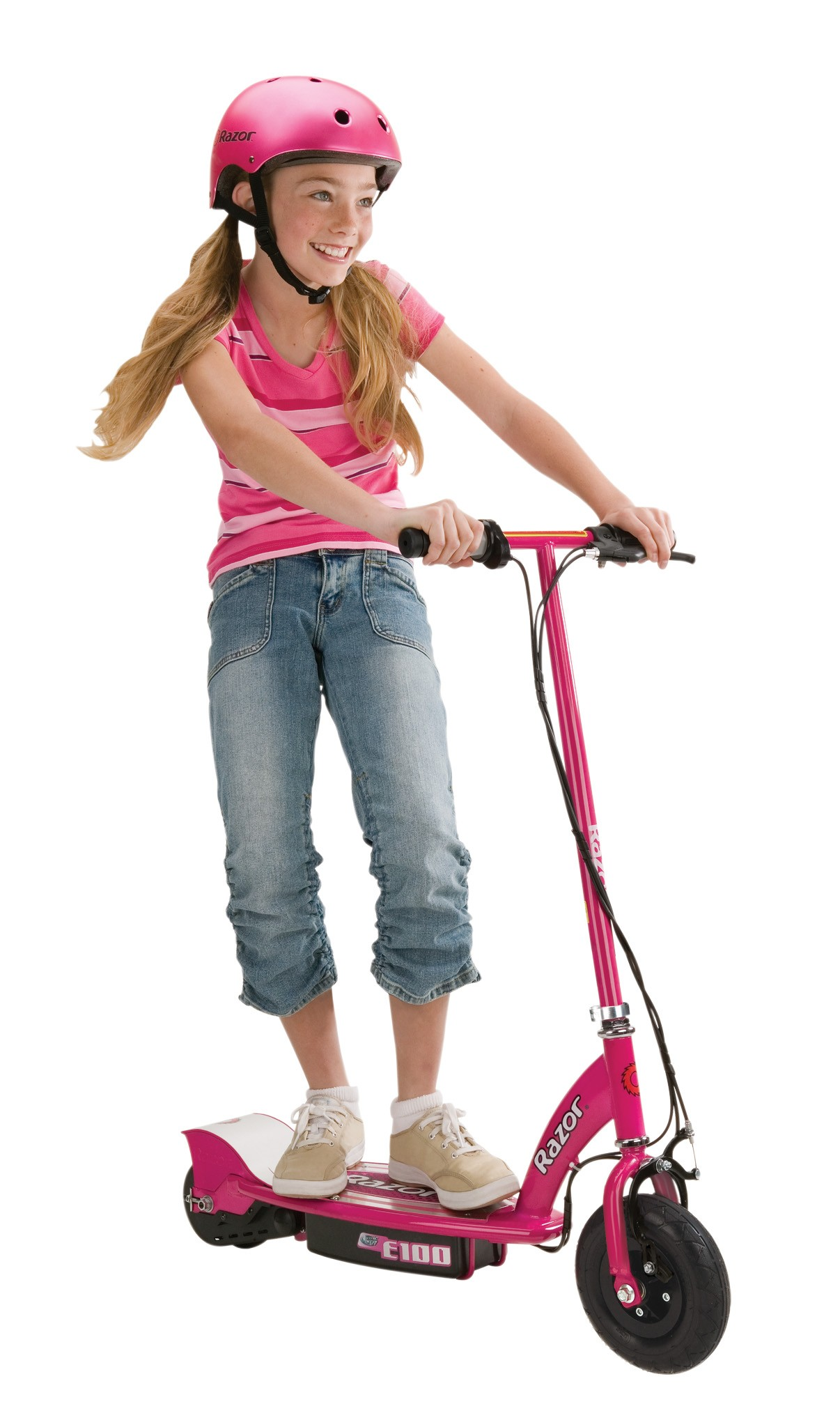 girls pink e100 electric scooter buy kids. Black Bedroom Furniture Sets. Home Design Ideas