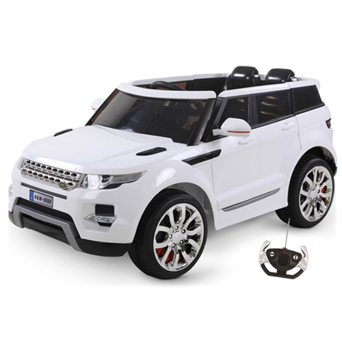 White HSE Style Premium Maxi 12v Kids Electric Jeep - Click Image to Close
