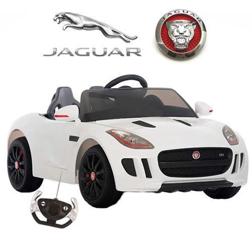 licensed kids 12v ice white jaguar