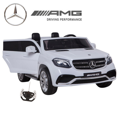 Official 2 Seat Large Mercedes 12v GLS Kids Ride On Jeep - Click Image to Close