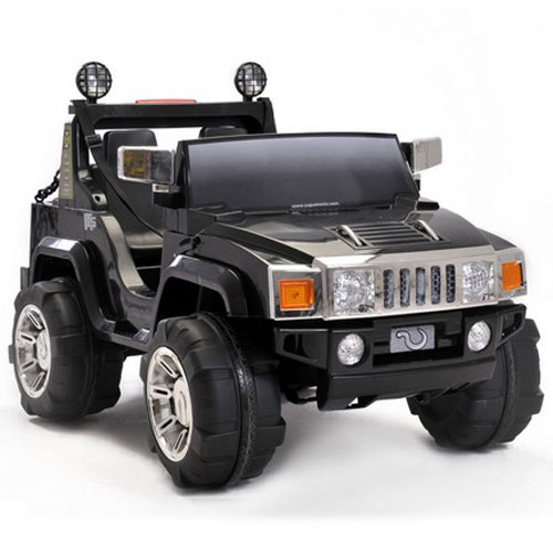 two seater 12v ride on hummer jeep black