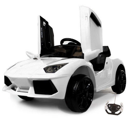 Kids Lambo Style Electric 12v Roadster Hypercar with Doors - Click Image to Close