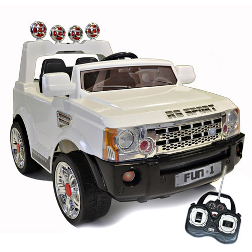 12v White Range Rover Sports Style Ride-On Jeep - Click Image to Close