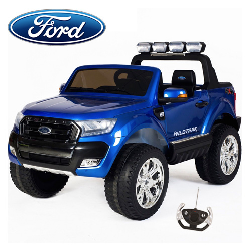 2019 Licensed 24v 2 Seat Blue 4WD Ford Ranger Jeep with Remote - Click Image to Close