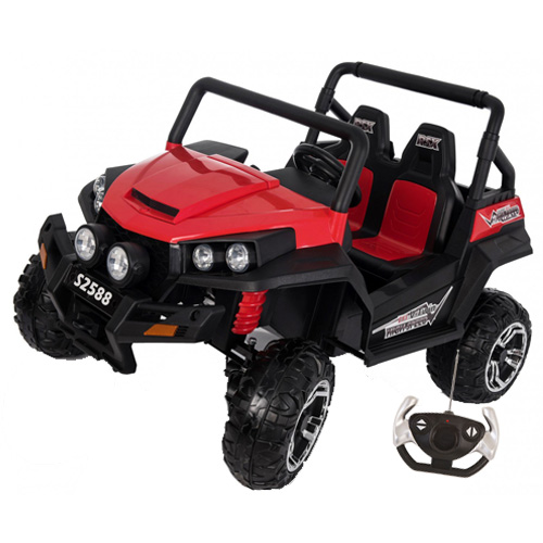2-Seater 24v 4-Wheel Drive Ride-In Off-Road Jeep + Remote - Click Image to Close