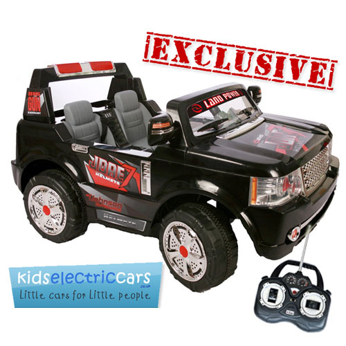 order the large 24v black 2 seat range rover style ride on jeep now secure now before they sell out the ultimate size in kids electric cars has