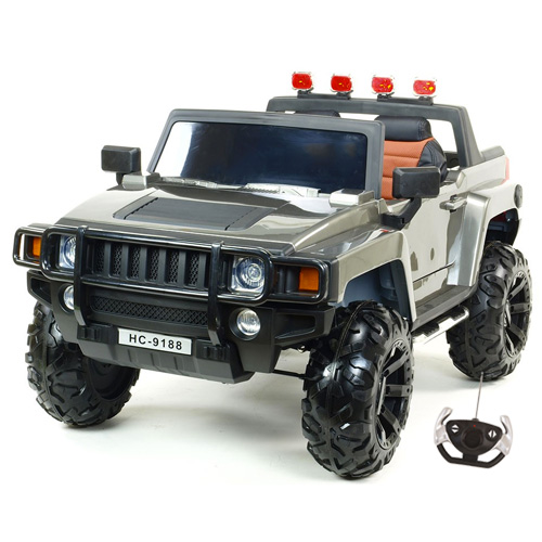 Kids 24v XL Two Seater Hummer Style Ride On SUV with Remote - Click Image to Close