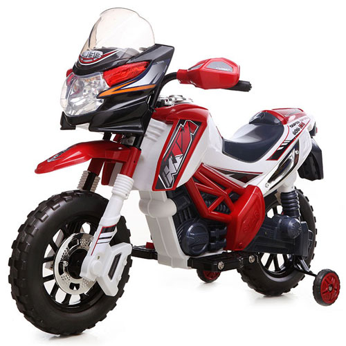 Kids 6v Motocross Style Electric Ride On Bike - Click Image to Close