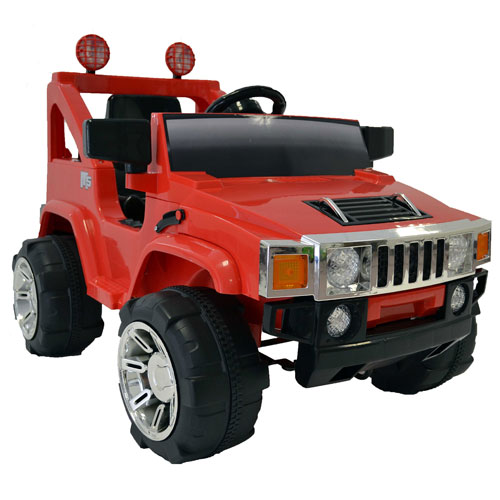 Childs One Seat Red 6v Hummer Ride-on Jeep - Click Image to Close