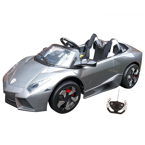 12v Large Special Edition Chrome Lambo Kids Sports Car - Click Image to Close