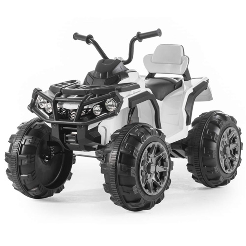Kids Chunky Wheel 12v Quad Bike with Suspension - Click Image to Close