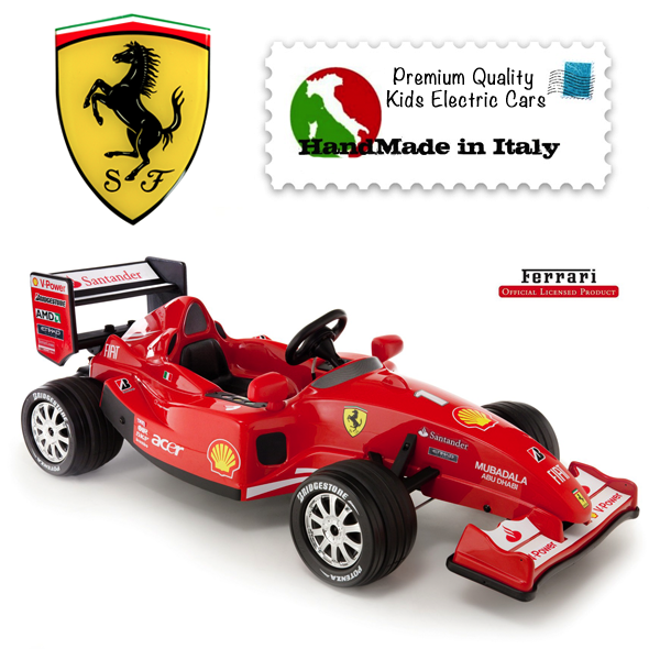 licensed ferrari f1 12v ride on racing car