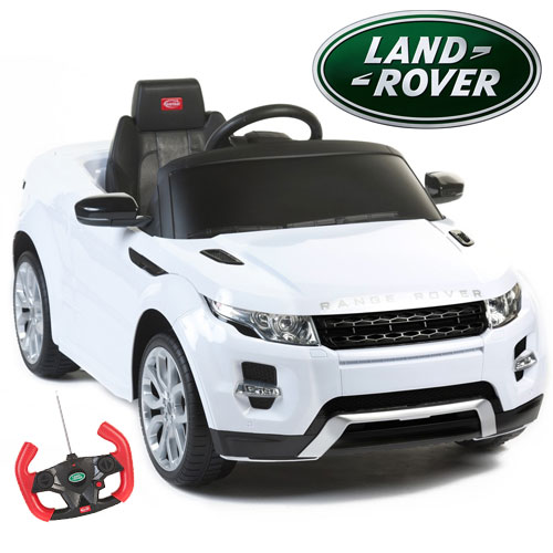 Kids Licensed White 12v Range Rover Evoque Ride On Jeep - Click Image to Close