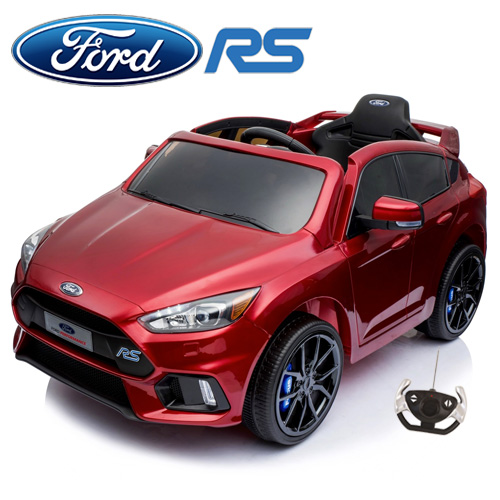 Metallic Red Ford Focus RS 12v Kids Official Ride On Car - Click Image to Close