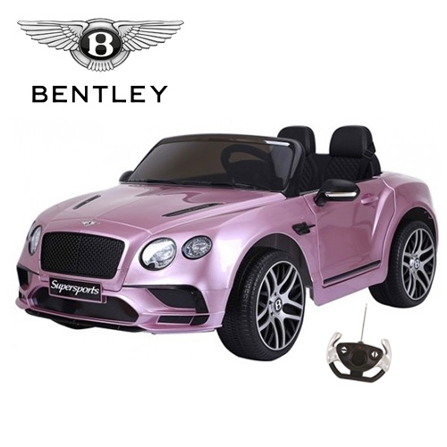 Official 12v Metallic Pink Bentley Continental GT Ride On Car - Click Image to Close