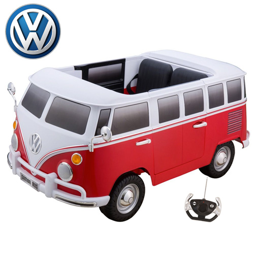 Kids Red 12v XL Two Seat Official VW Electric Ride On Camper Van - Click Image to Close