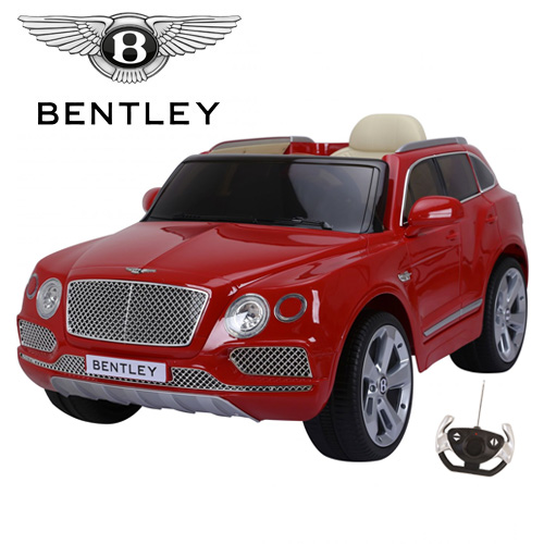 Licensed Red Bentley Bentayga 12v Premium Kids Ride On Jeep - Click Image to Close