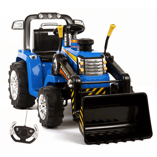 12v Battery Ride On Tractor With Loader Bucket with Remote - Click Image to Close