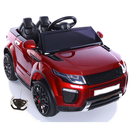 Ruby Red 12v Xtra Urban Evoque Jeep with Remote & MP3 - Click Image to Close