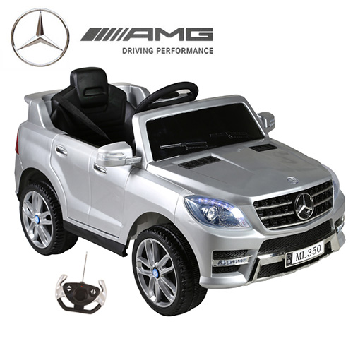 Silver 12v Mercedes ML350 Kids Jeep with Remote - Click Image to Close