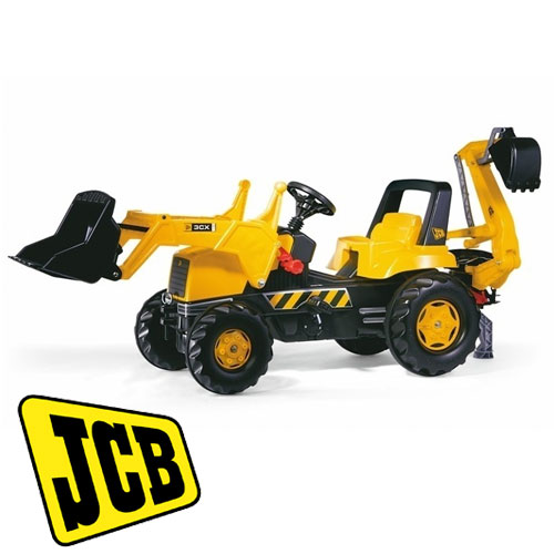 licensed jcb pedal tractor with loader excavator