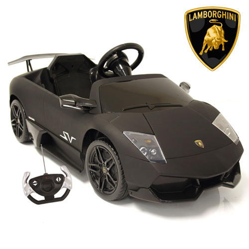 Matte Black 12v Lamborghini Murcielago Kids Sports Car 299 95