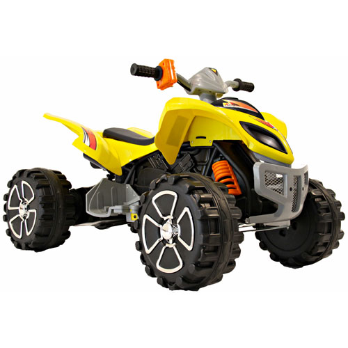 mega quad yellow 12 volt quad bike buy kids electric cars child 39 s battery powered. Black Bedroom Furniture Sets. Home Design Ideas