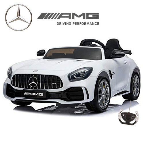 Mercedes GT R Large White 2 Seat 24v Battery Kids Car - Click Image to Close