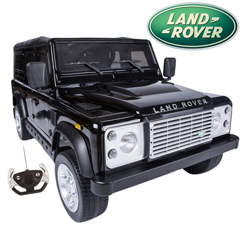 Black Limited Edition Land Rover Defender Kids 12v Ride On 4X4 - Click Image to Close