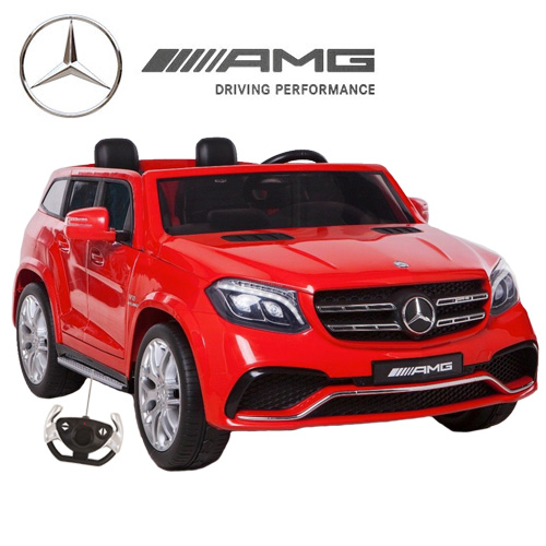 Official Mercedes GLS Large Two Seater Kids Red Jeep - Click Image to Close