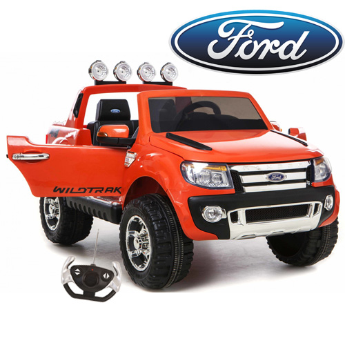 Official Orange Ford Ranger 12v Kids Truck Ride On - Click Image to Close
