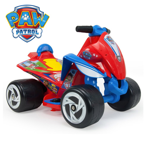 Licensed Paw Patrol Kids 6v Electric Ride On Quad Bike - Click Image to Close