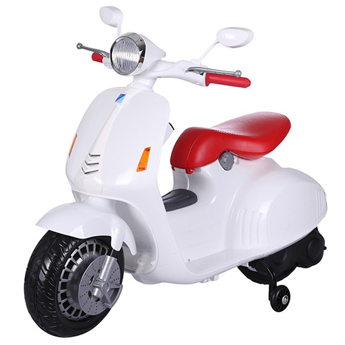 Piaggio Vespa Style Kids 12v Ride On Electric Moped - Click Image to Close