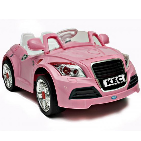 Pink 12V Two Motor Audi TT Style Car, Remote, MP3 Player - Click Image to Close