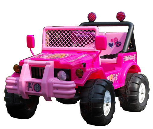 Ride On Pink Princess Girls Electric Jeep 12v Toy Car Pictures