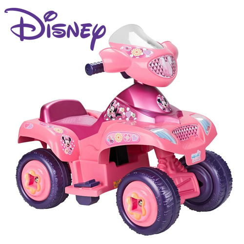 Pink Official Disney Mickey Mouse Clubhouse Girls Quad Bike