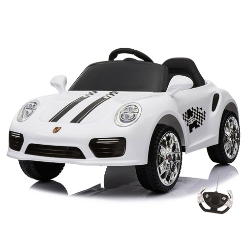 Porsche 911 Carrera Style 12v Kids Electric Car with Remote - Click Image to Close