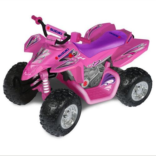 suzuki 12 volt girls quad bike pink