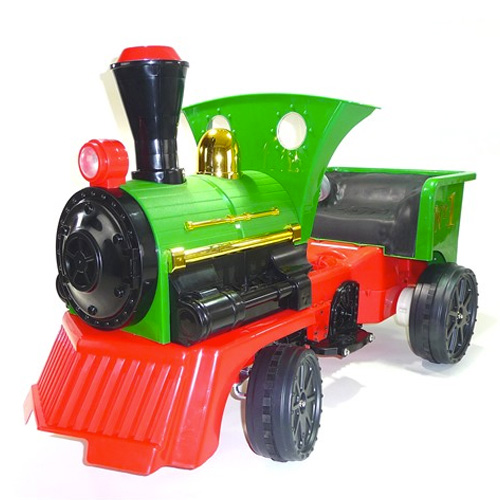 Traditional Ride on British Steam Engine 12v Kids Train - Click Image to Close