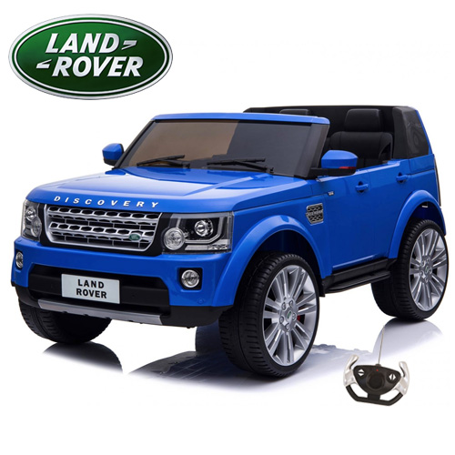 Two Seat Kids Land Rover Discovery 12v Blue Jeep with Remote - Click Image to Close