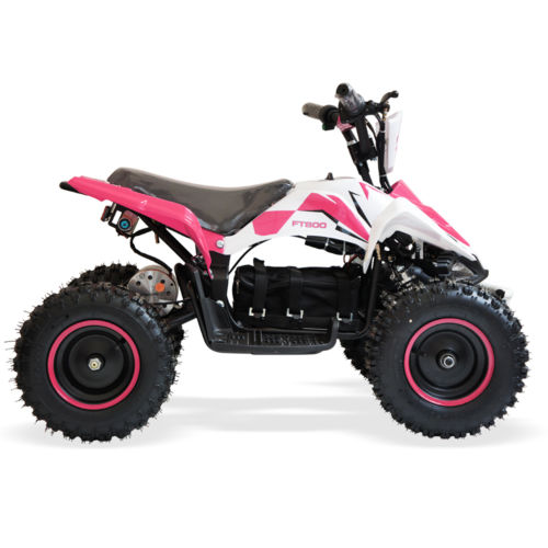 Ultimate Girls Pink 36v 3 Speed Off Road Electric Quad Bike - Click Image to Close