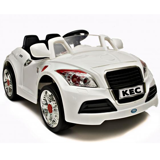 White 12V Audi TT Style Car, Parental Remote Controls & MP3 - Click Image to Close