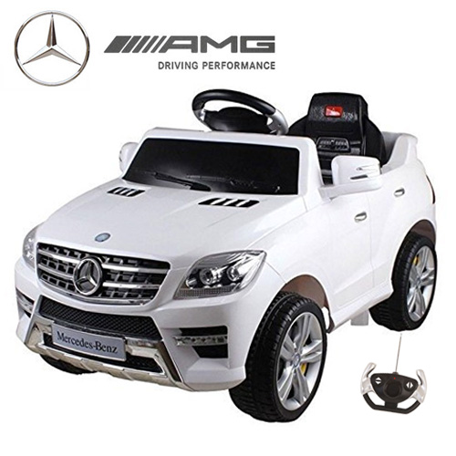 Kids White Official ML350 Compact Mercedes 12v Ride On Jeep - Click Image to Close
