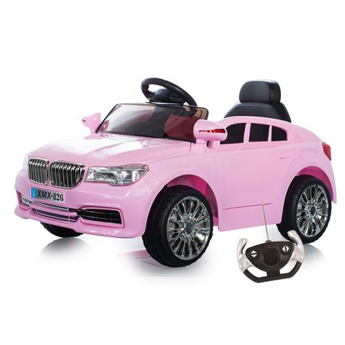 X7 Beemer Jeep Style 12v Pink Ride On Jeep with Doors - Click Image to Close